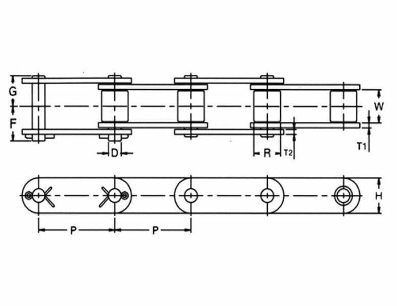 81x Chain - High Strength 81x Chain - Conveyor Chains - PEER Chain