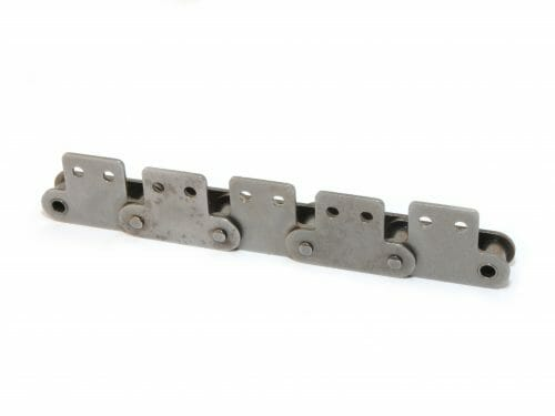 ANSI Double Pitch Roller Chain with Attachments for Sprockets
