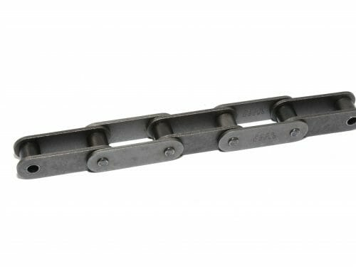 Double pitch roller chain for sprockets