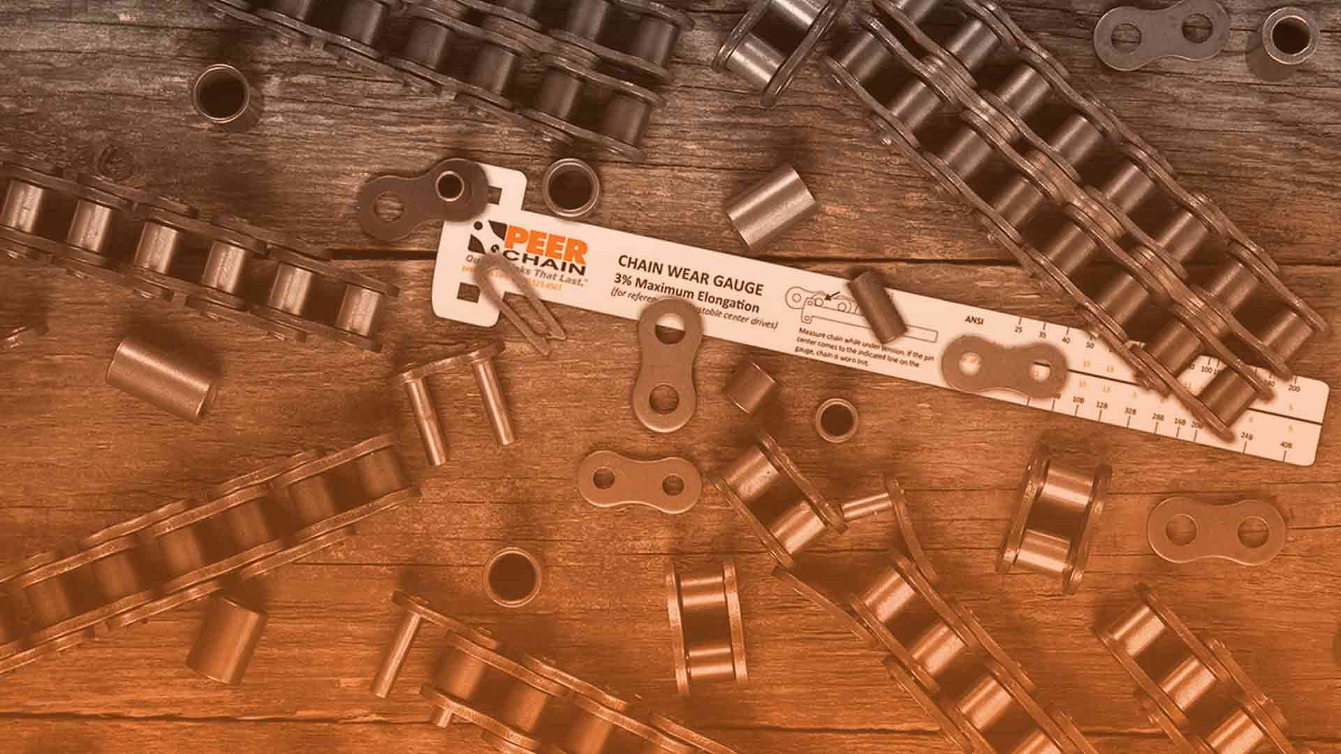 roller chain wear gauge